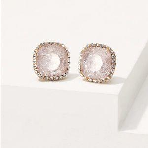NWT Pave stone stud earrings